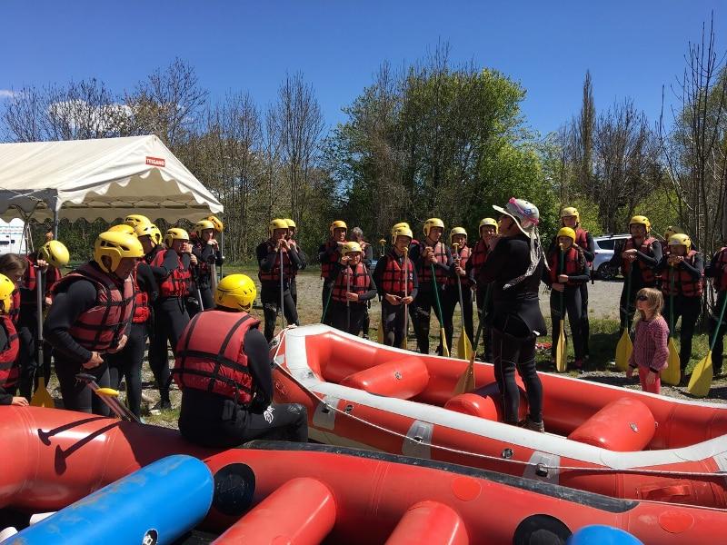 Rafting, briefing pour un départ en ligne